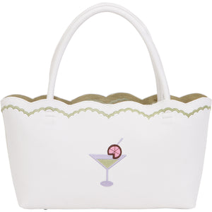 Embroidered Beach Small Tote