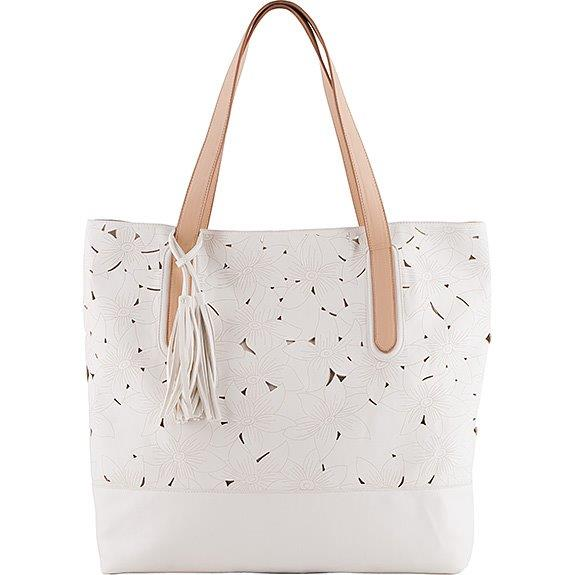 The Floral Leather Cut Sam Tote
