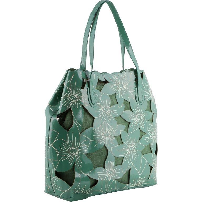 The Floral leather cut Lauren Shoulder bag