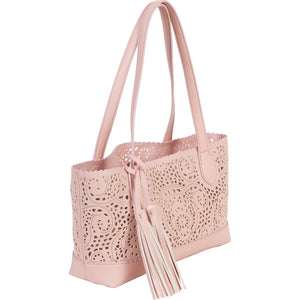 Signture shape crochet pattern tote -Blush