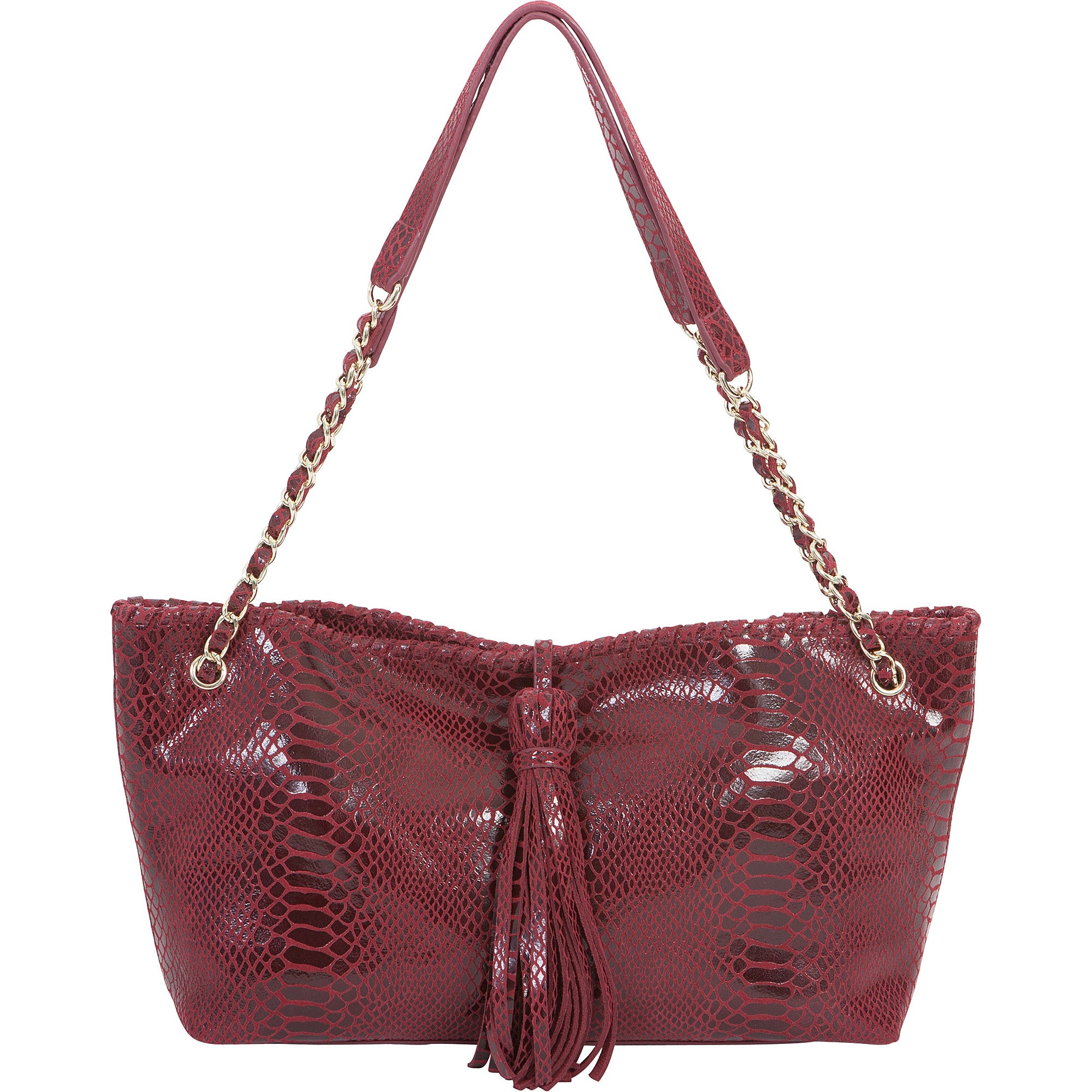 Sam leather Convertible Shoulder Bag - Bordeaux