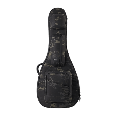 Black Camo ACME Series acoustic guitar bag obverse displayed