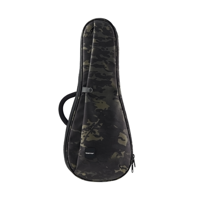 Black Camo ACME Series ukulele guitar bag obverse displayed