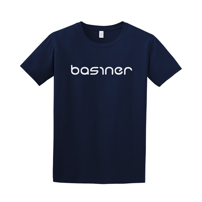 basiner Logo Tshirt in blue