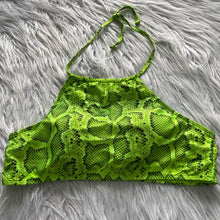 Load image into Gallery viewer, Snake print Swim Top - Extra Large