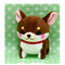 Amuse Chubby Chihuahua (Dog) - Odekake series  - Mini Strap Chocorin (Brown/White)