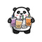Fantastic Fam Inc Vinyl Sticker - Tubby The Panda - Boba Panda