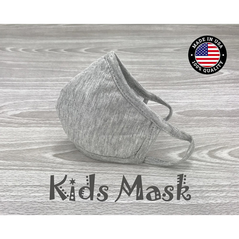 Washable Cotton Face Mask Kids size - Heather Grey