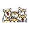 Fantastic Fam Inc Peeking Vinyl Sticker - Corgi Clutter