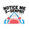 Fantastic Fam Peeking Vinyl Sticker - Notice Me Senpai Shark