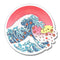 Fantastic Fam Vinyl Sticker - Cherry Blossom Wave