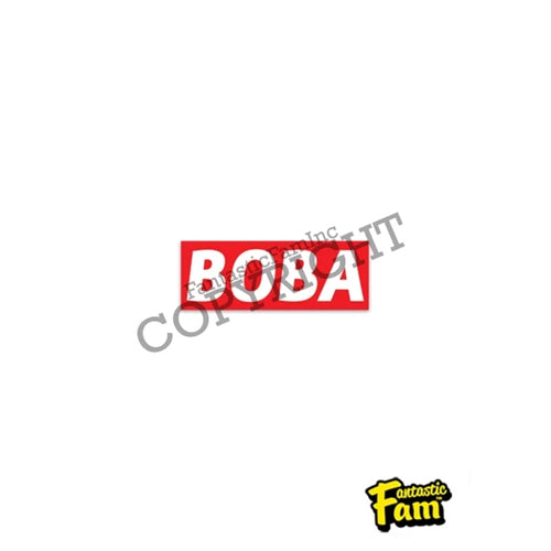 Fantastic Fam Vinyl Sticker - Boba Red Stripe
