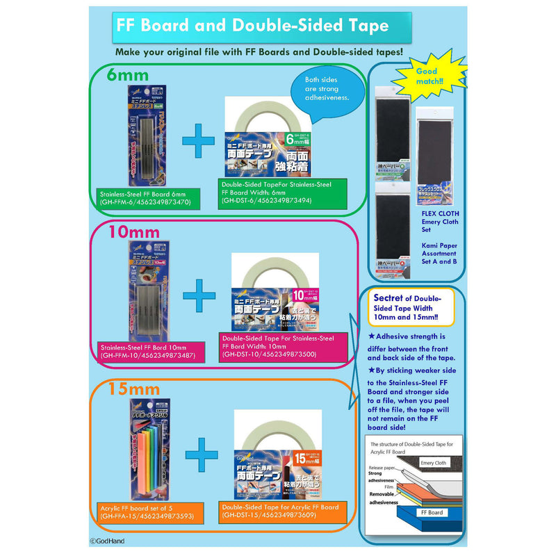 Double-Sided Tape 6mm for Stainless-Steel FF Bord GH-DST-6