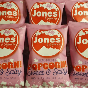 Box of Jones Popcorn Sweet & Salty 28x27g