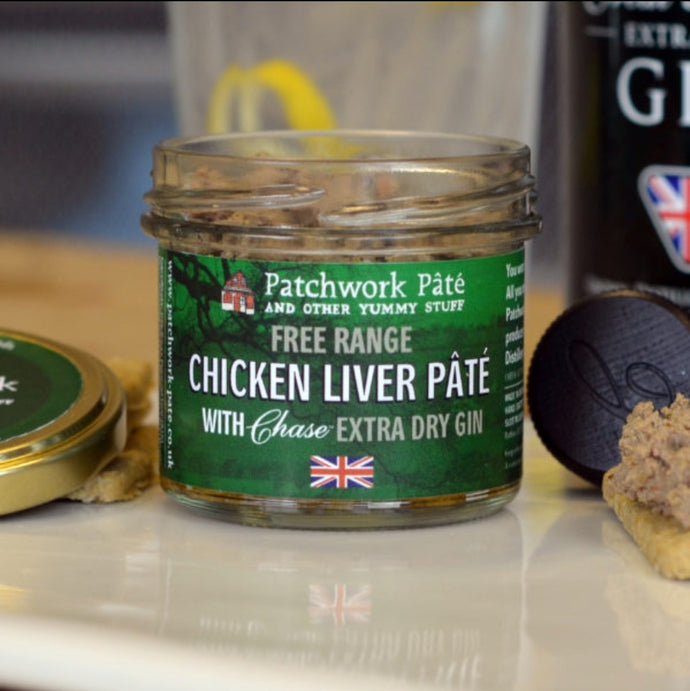 Patchwork Chicken Liver Pâté with Chase Extra Dry Gin