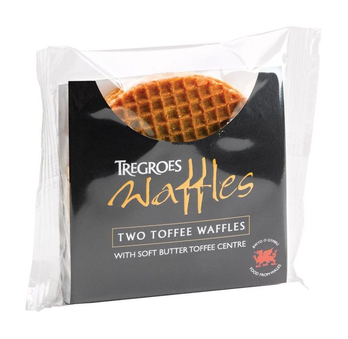 Tregroes Butter Toffee Waffles (2/pack)