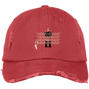 HENNY KINGS OFF WHITE Distressed Dad Cap - Henny Kings