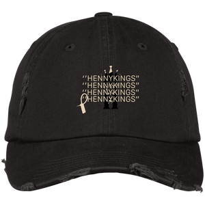 HENNY KINGS OFF WHITE Distressed Dad Cap