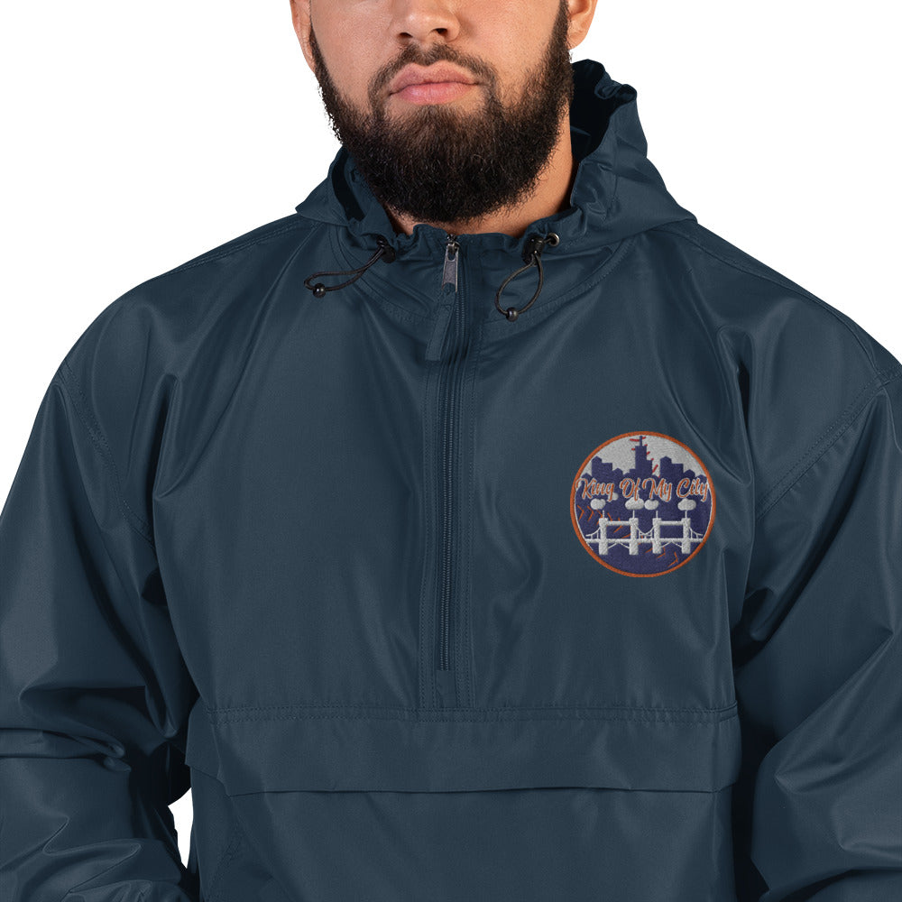 K.O.M.C Embroidered Champion Packable Jacket