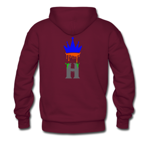 Splash Fit Hoodie - burgundy