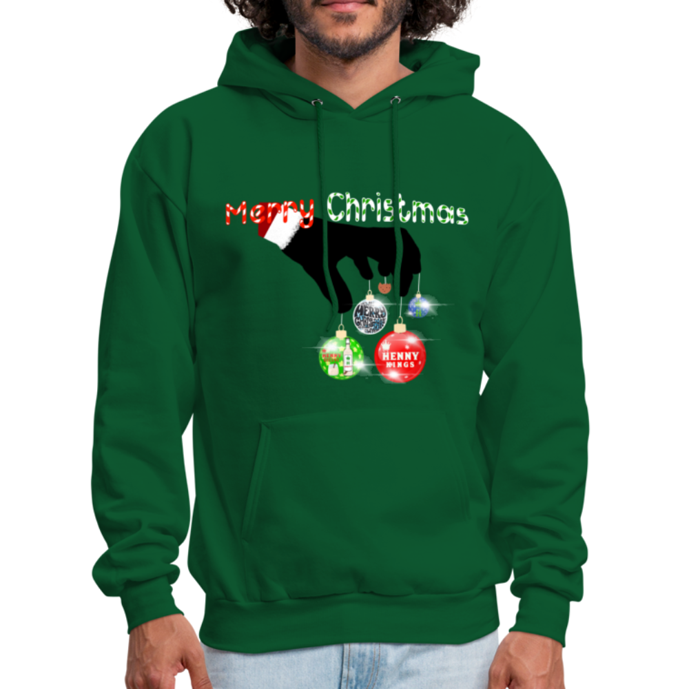 HK Christmas Hoodie - forest green