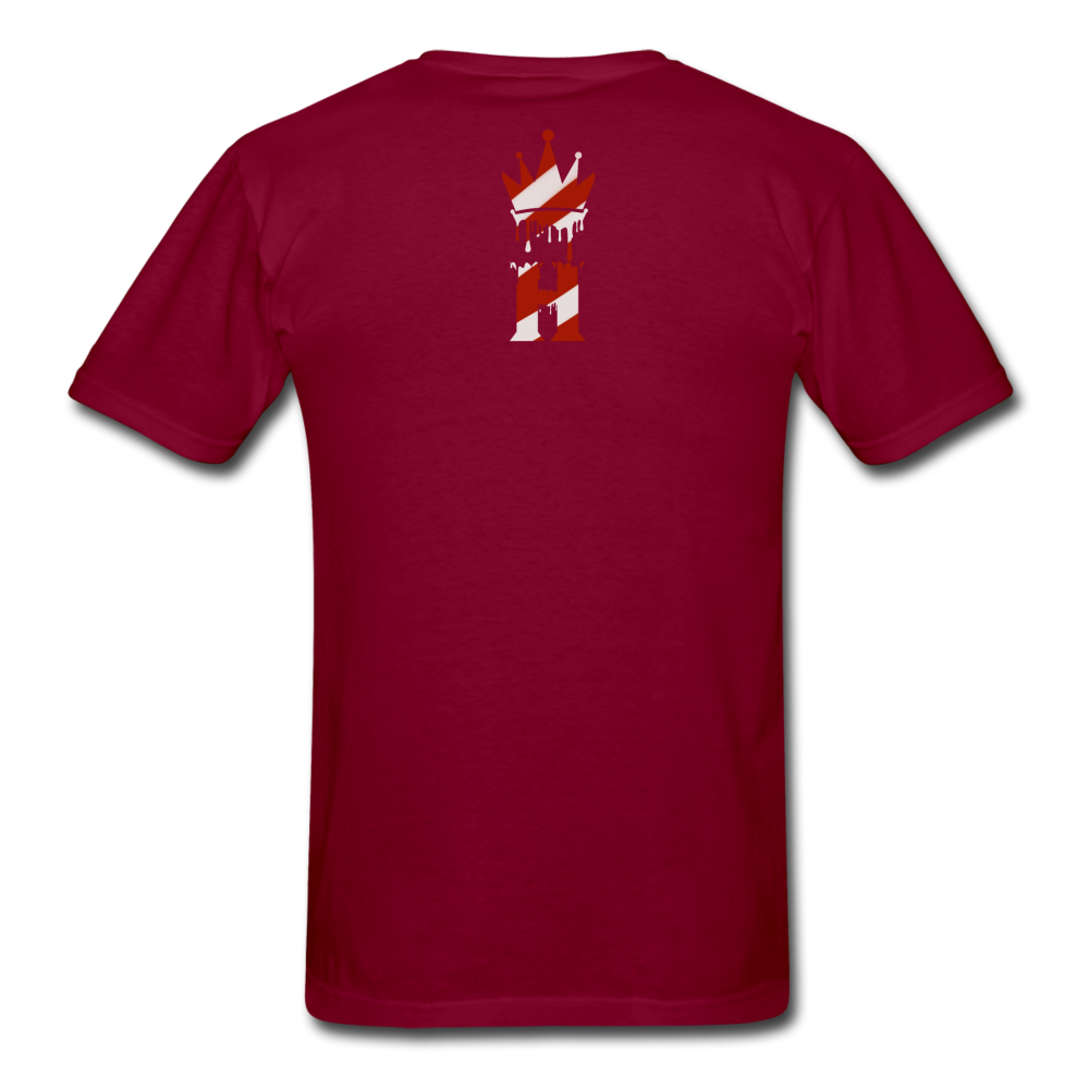 HK Christmas T-shirt - burgundy