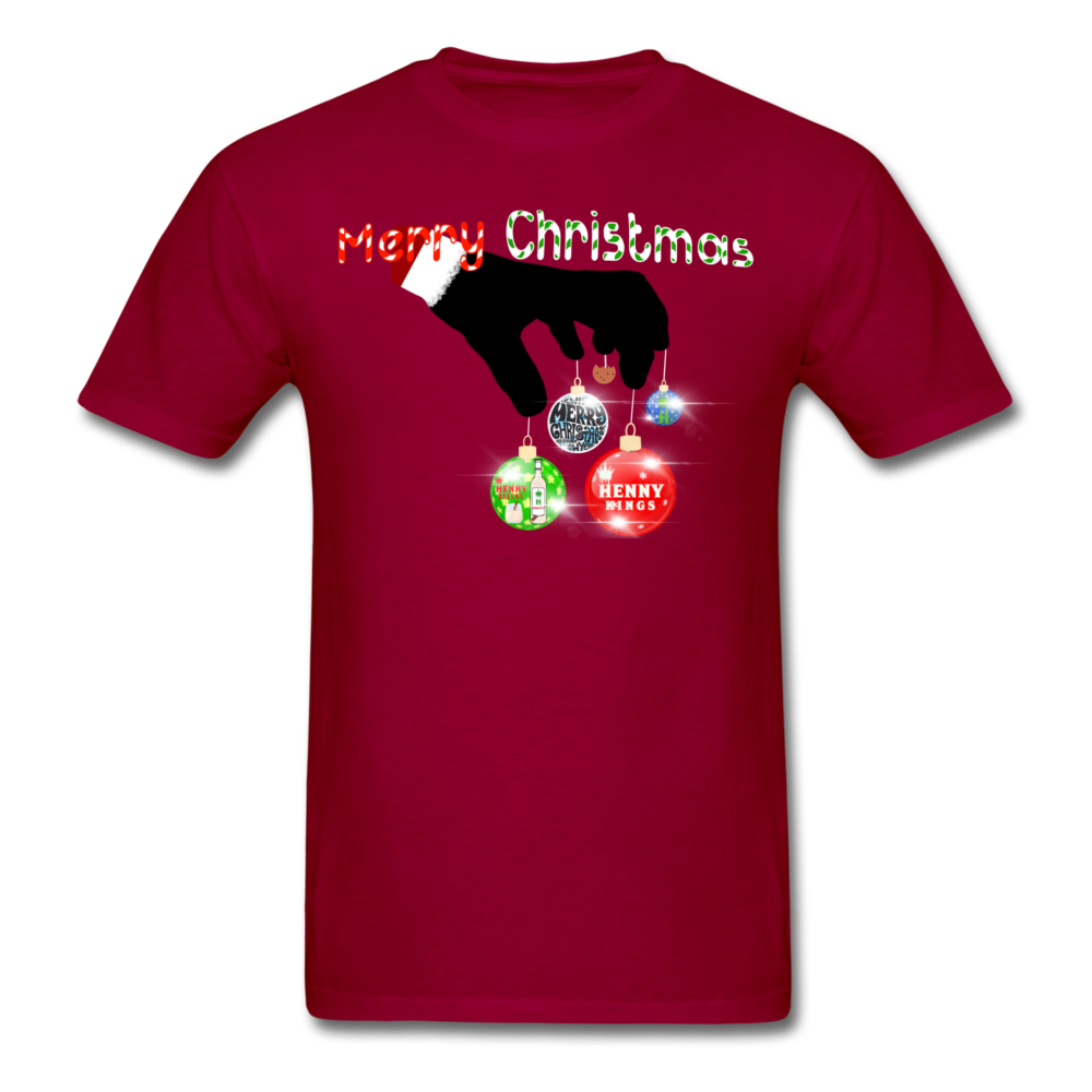 HK Christmas T-shirt - dark red