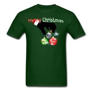 HK Christmas T-shirt - forest green