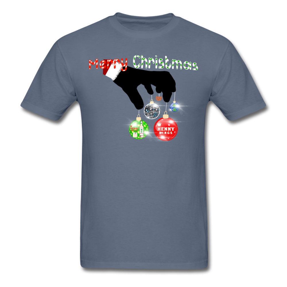 HK Christmas T-shirt - denim