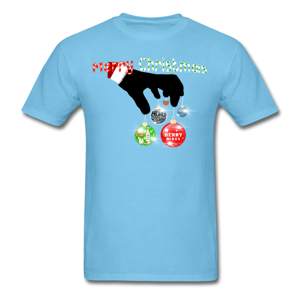 HK Christmas T-shirt - aquatic blue
