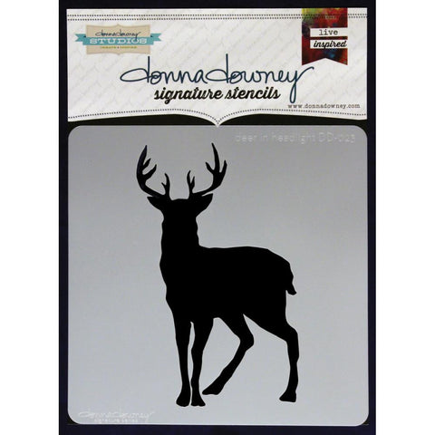 Deer In The Headlights - Donna Downey Stencils