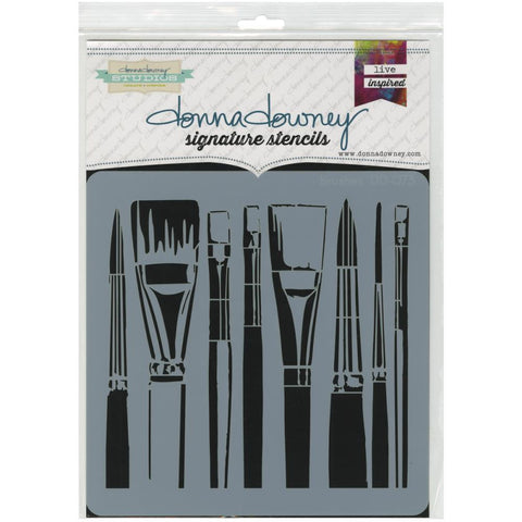 Brushes - Donna Downey Stencil