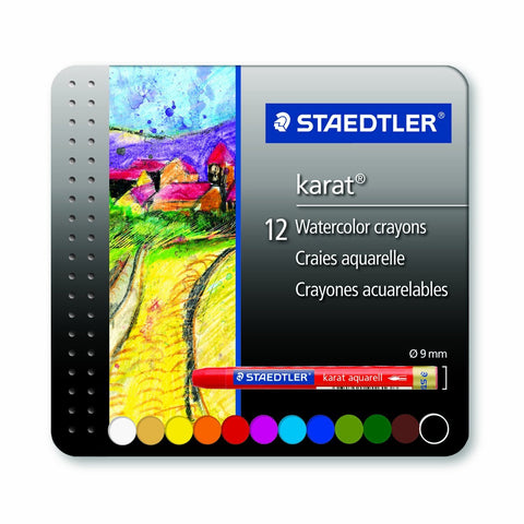 Karat Watercolor Crayons - 12 count