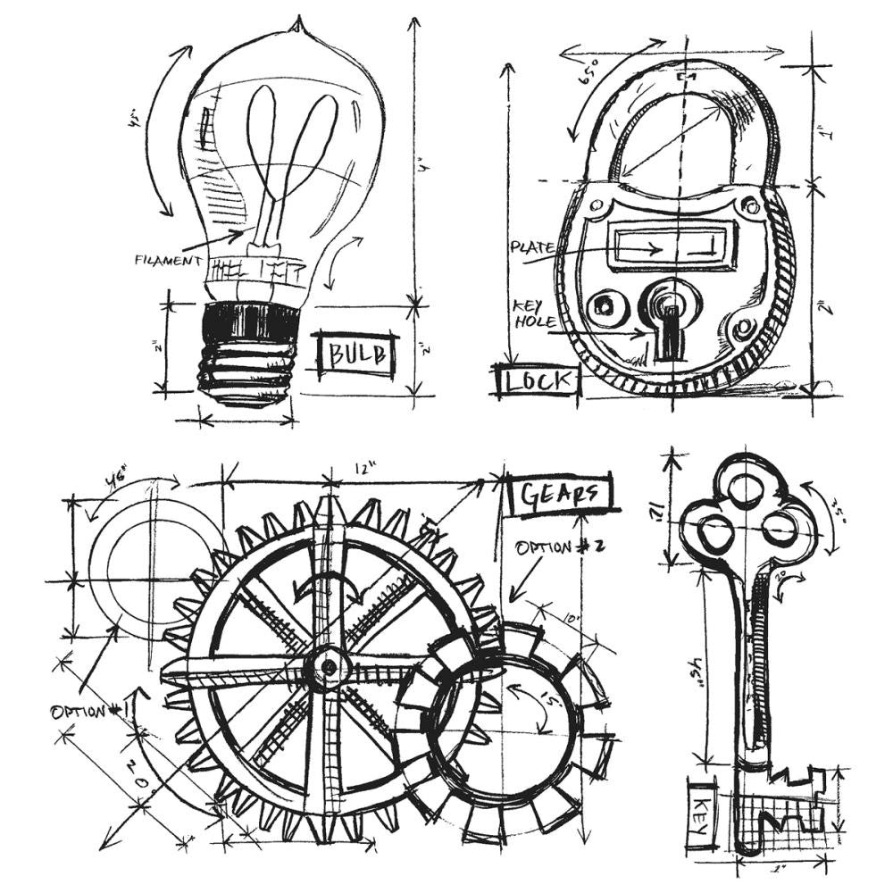 Tim holtz stampers anonymous industrial blueprint peace of art tim holtz stampers anonymous industrial blueprint malvernweather Image collections