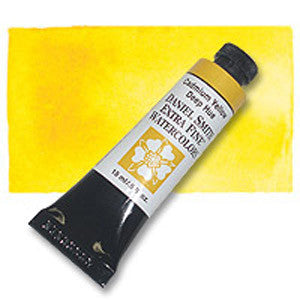 Cadmium Yellow Deep Hue (PY 53, PY 83) 15ml Tube, DANIEL SMITH Extra Fine Watercolor