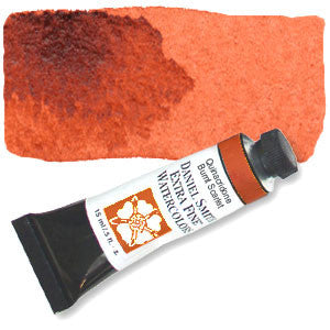 Quinacridone Burnt Scarlet (PR206) 15ml Tube, DANIEL SMITH Extra Fine Watercolor