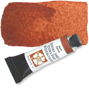 Burnt Sienna (PBr7)15ml Tube, DANIEL SMITH Extra Fine Watercolor