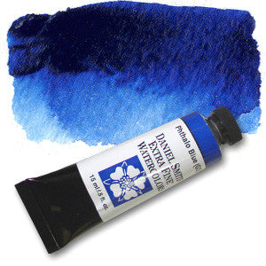 Phthalo Blue GS (PB15) 15ml Tube, DANIEL SMITH Extra Fine Watercolor