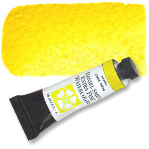 Aureolin - Cobalt Yellow (PY40) 15ml Tube, DANIEL SMITH Extra Fine Watercolor
