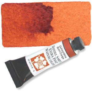 Quinacridone Burnt Orange (PO48) 15ml Tube, DANIEL SMITH Extra Fine Watercolor