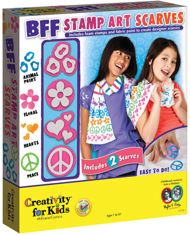 BFF Stamp Art Scarves Kit