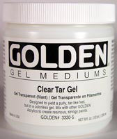Golden Clear Tar Gel 8 oz