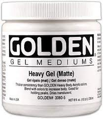 Golden Heavy Gel Medium (MATTE) 16OZ