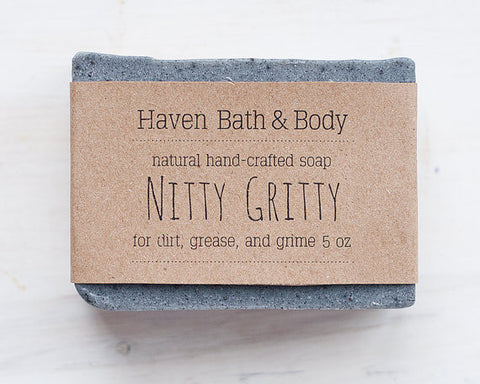 "Homemade Soap ""Nitty Gritty"" 5 oz Vegan Friendly Exfoliating Scrubbing Pumice Lava"
