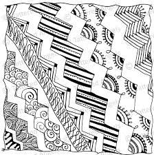 Tattered Tangles Zentangled 12x12 Papers