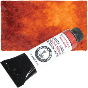 Quinacridone Deep Gold (PO48 PY150) 15ml Tube, DANIEL SMITH Extra Fine Watercolor