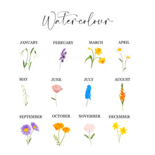 Load image into Gallery viewer, Family Birth Flower Print