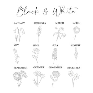Birth Flower Print