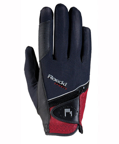 Roeckl Red and Black Madrid Riding Glove