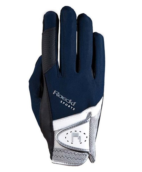 Roeckl Navy and White Madrid Riding Gloves